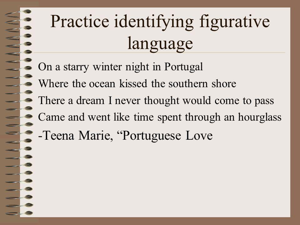 Practice identifying figurative language