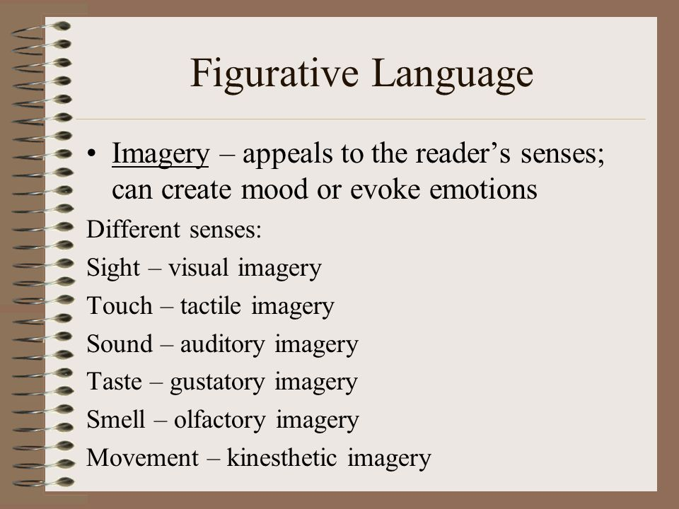 Auditory visual tactile kinesthetic examples of figurative