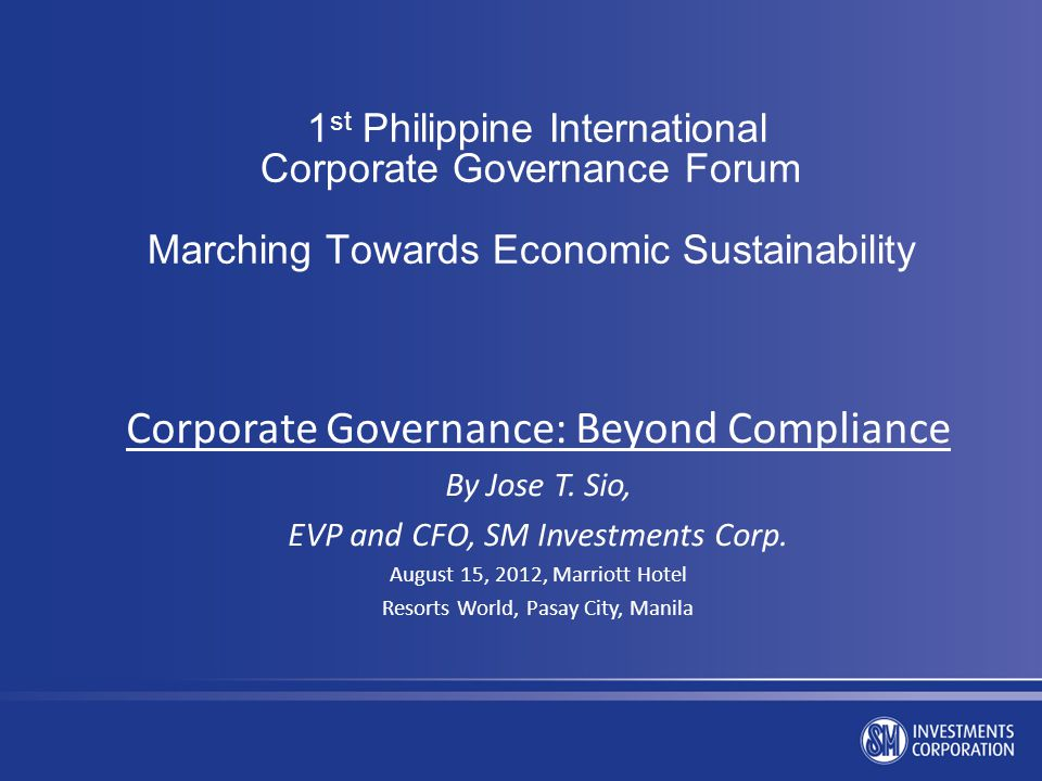 Corporate Governance: Beyond Compliance