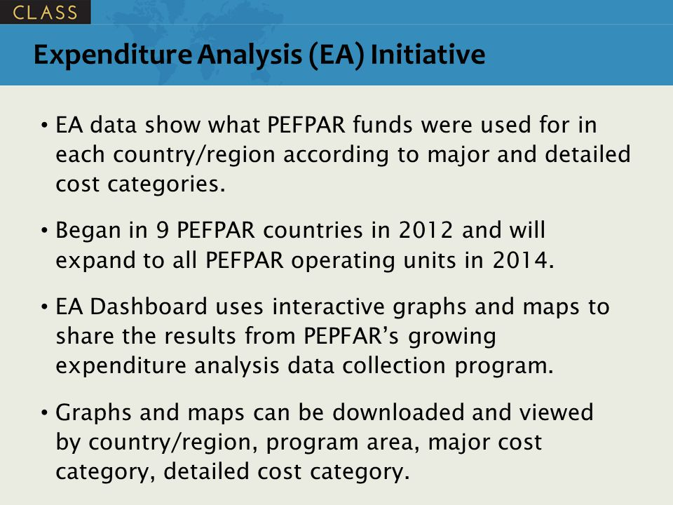 Expenditure Analysis (EA) Initiative