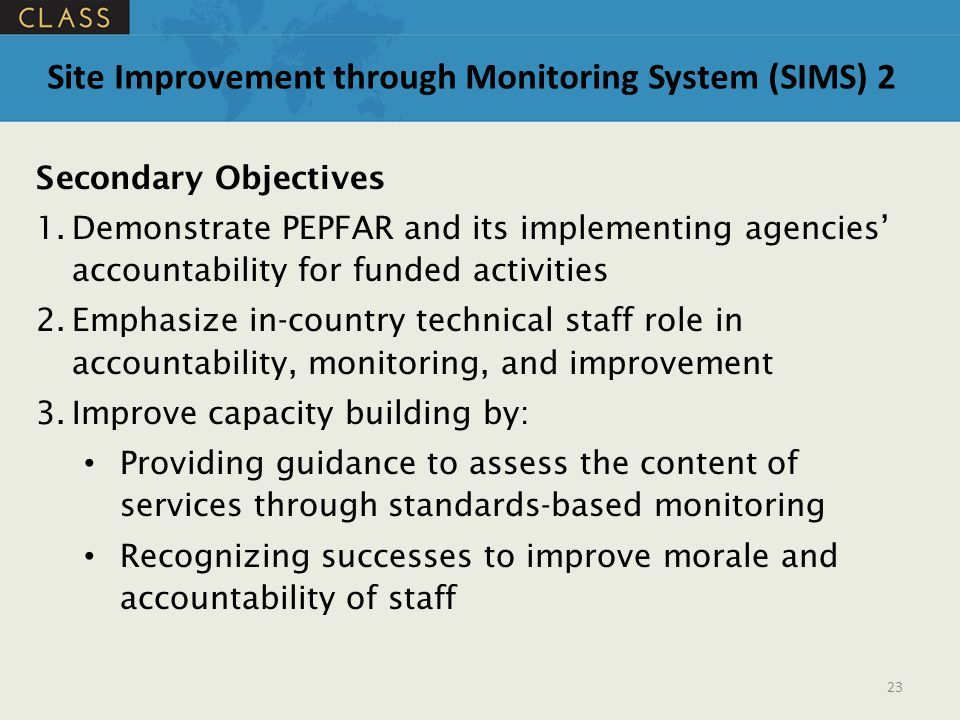 Site Improvement through Monitoring System (SIMS) 2