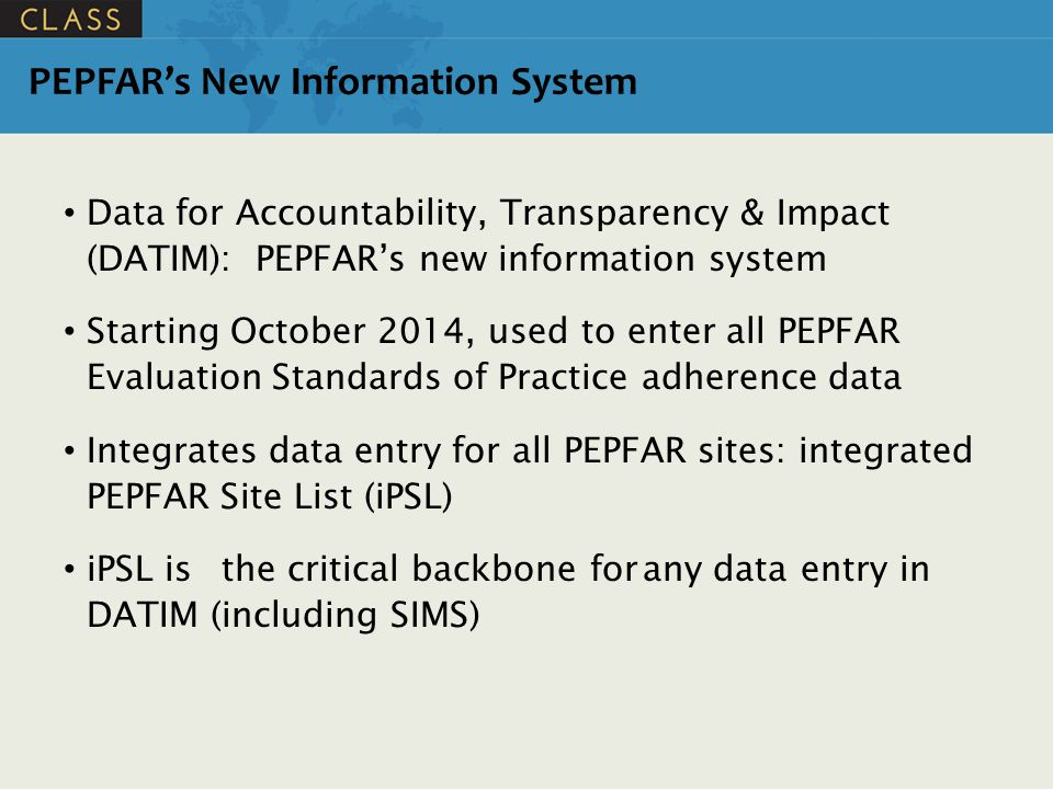 PEPFAR's New Information System