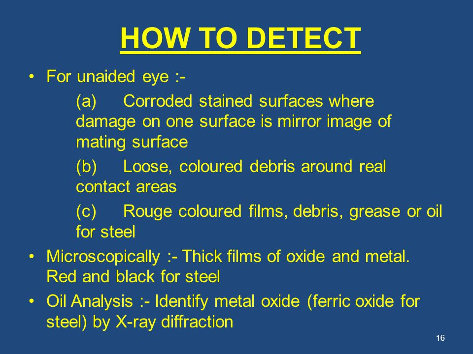 HOW TO DETECT For unaided eye :-