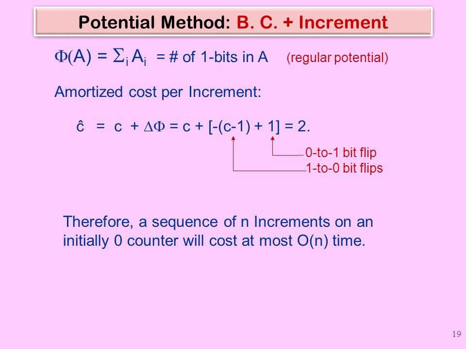 Potential Method: B. C. + Increment