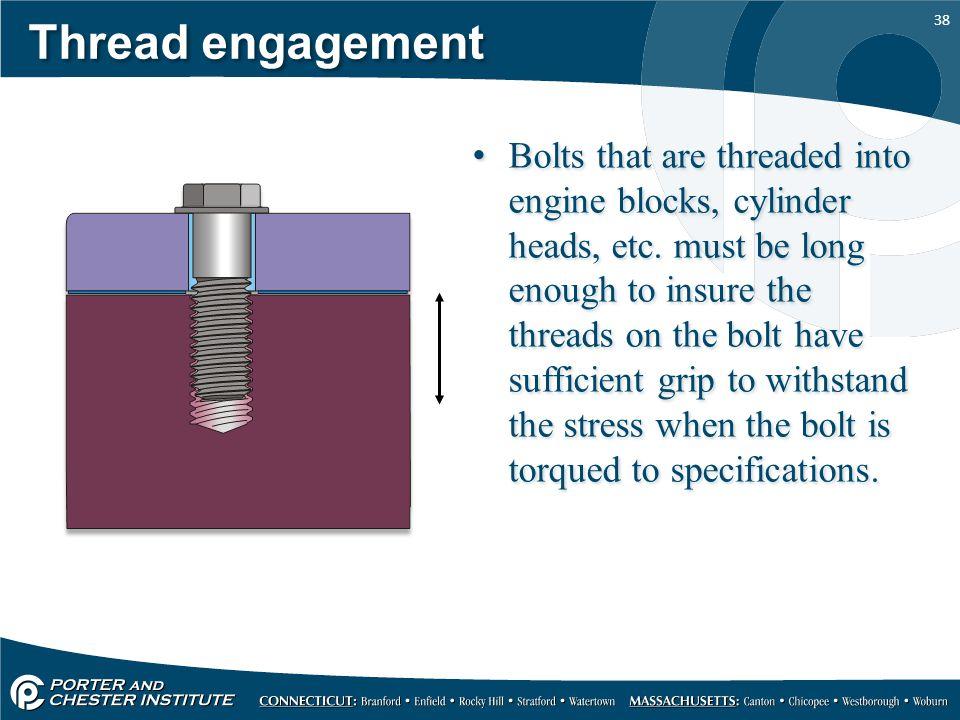 Thread engagement