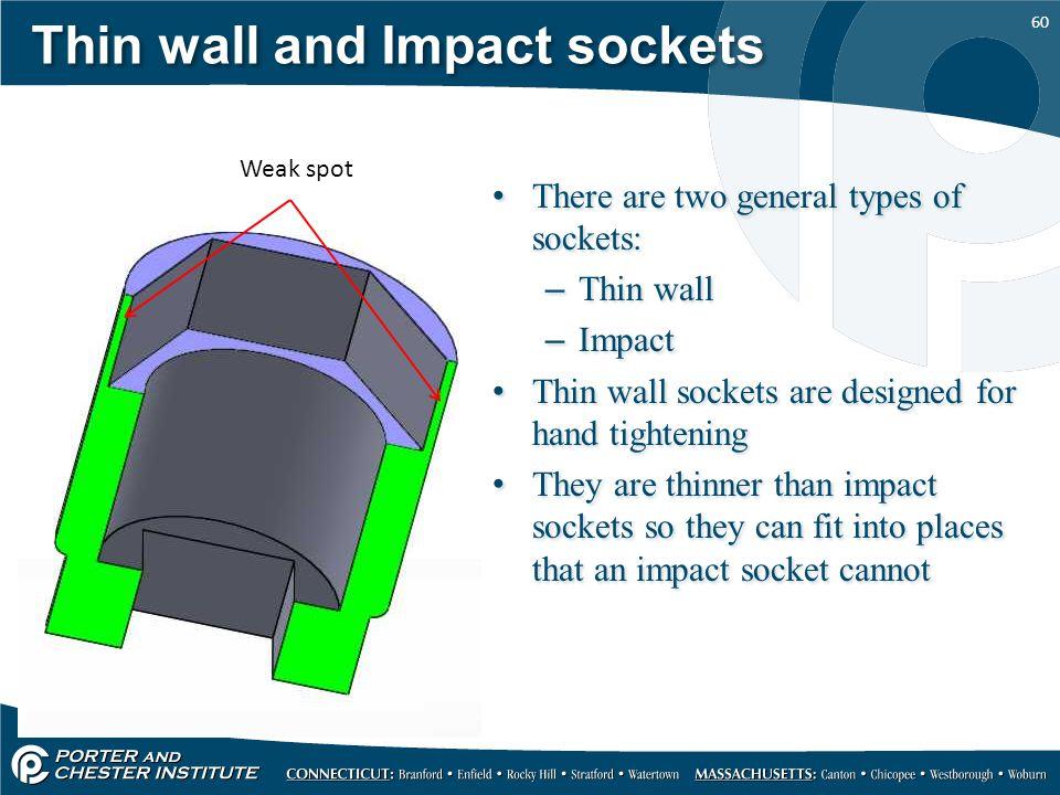 Thin wall and Impact sockets