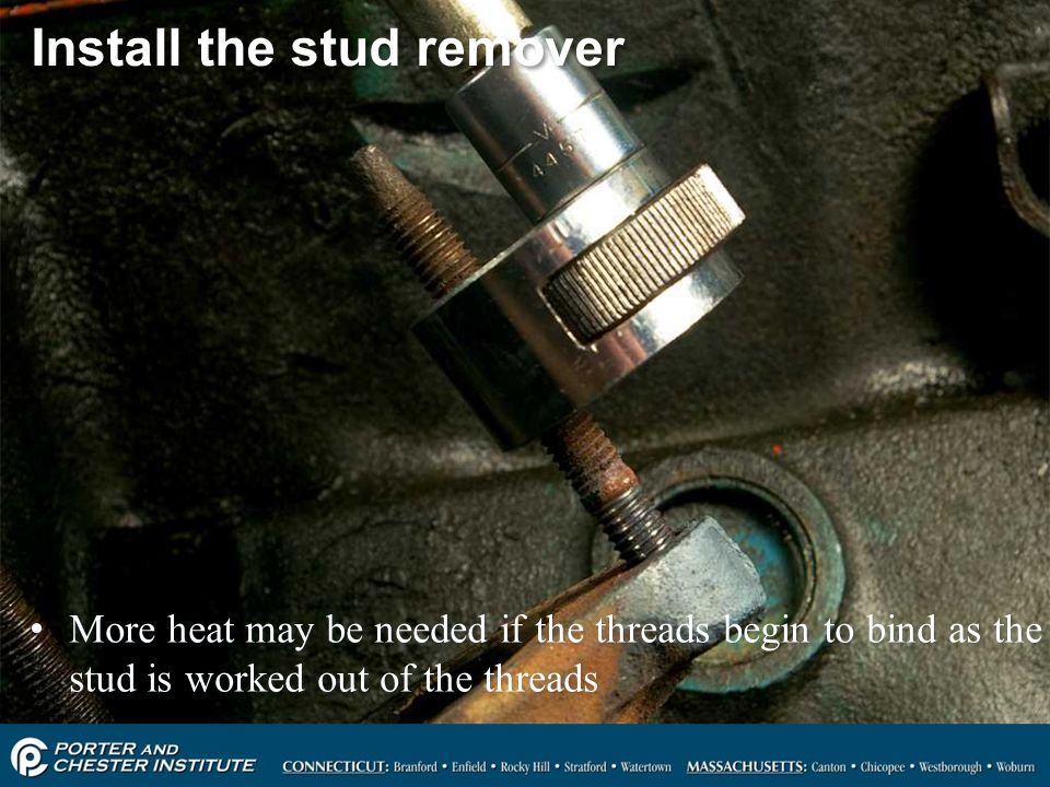 Install the stud remover