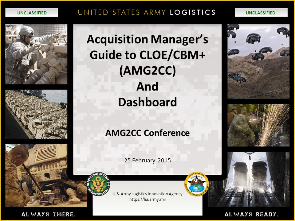 Acquisition Manager's Guide to CLOE/CBM+ (AMG2CC) And Dashboard