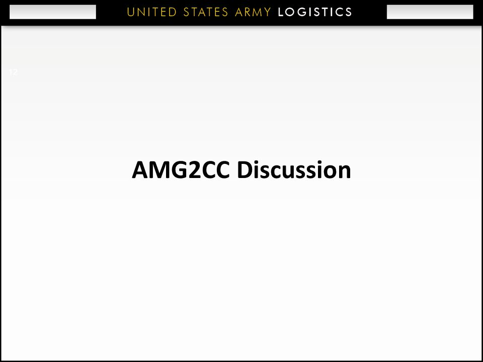 AMG2CC Discussion