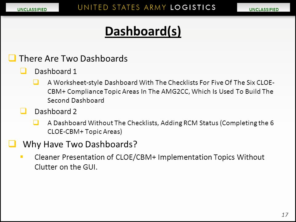 Dashboard(s) There Are Two Dashboards Why Have Two Dashboards
