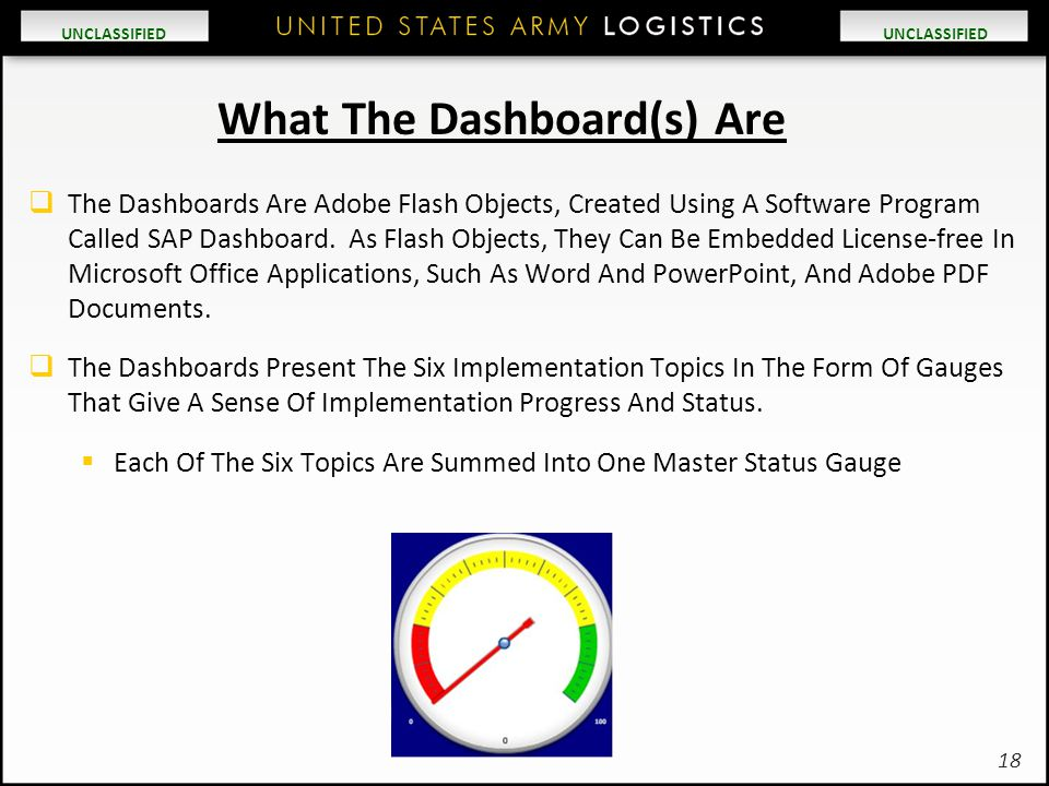 What The Dashboard(s) Are