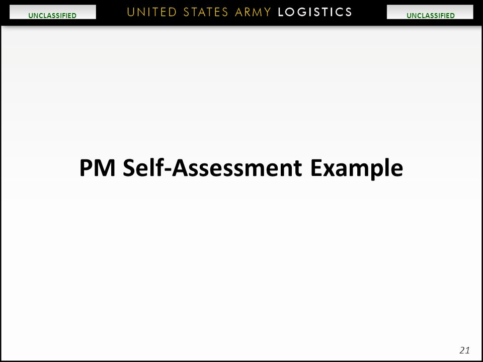 PM Self-Assessment Example