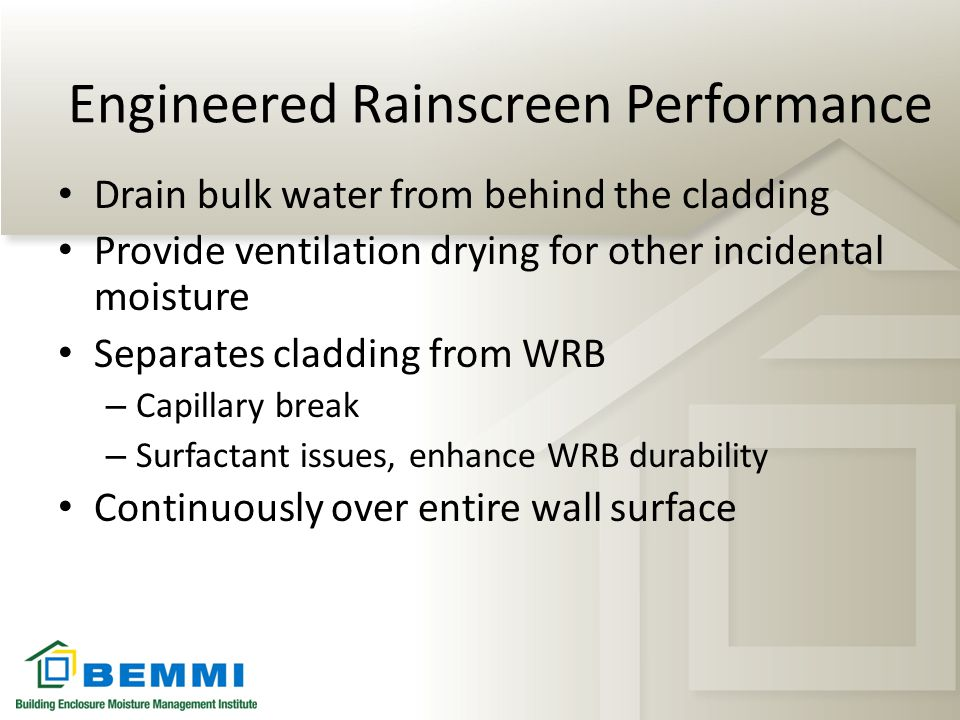 Engineered Rainscreen Performance