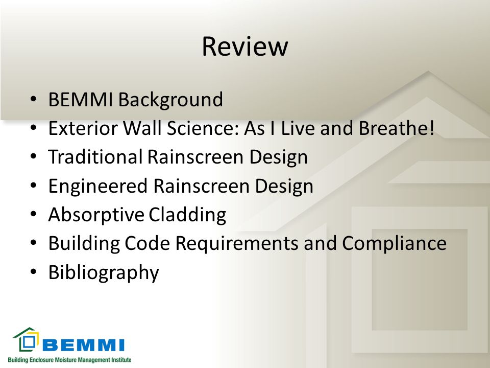 Review BEMMI Background Exterior Wall Science: As I Live and Breathe!