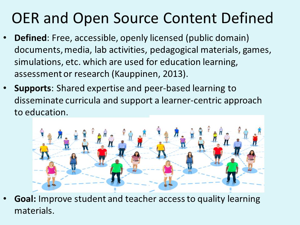 OER and Open Source Content Defined