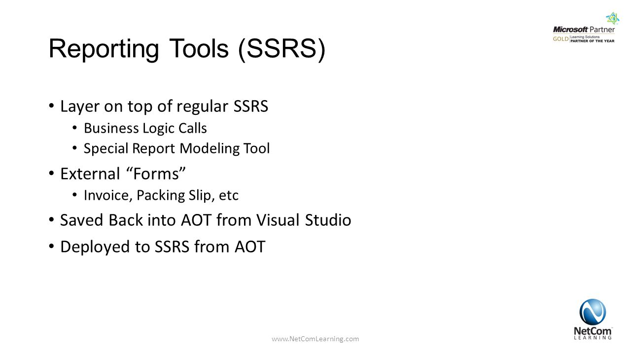 Reporting Tools (SSRS)