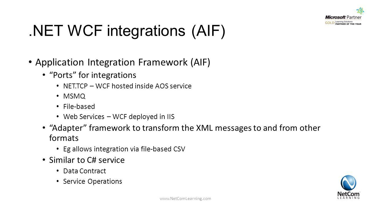 .NET WCF integrations (AIF)