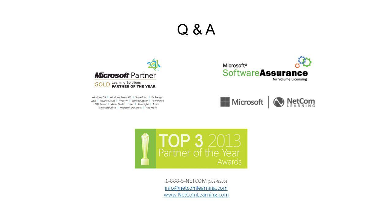 Q & A 1-888-5-NETCOM (563-8266) info@netcomlearning.com