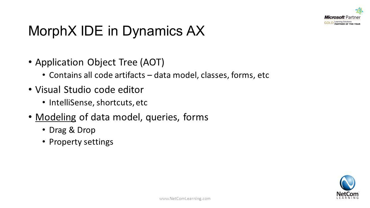 MorphX IDE in Dynamics AX