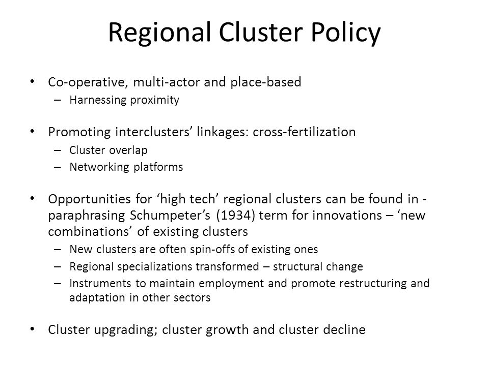 Regional Cluster Policy