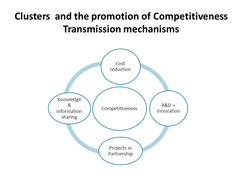 Clusters and the promotion of Competitiveness Transmission mechanisms