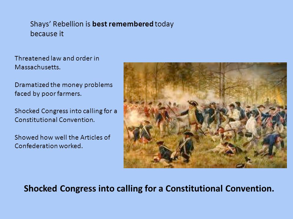 Shocked Congress into calling for a Constitutional Convention.