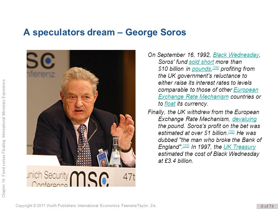 A speculators dream – George Soros