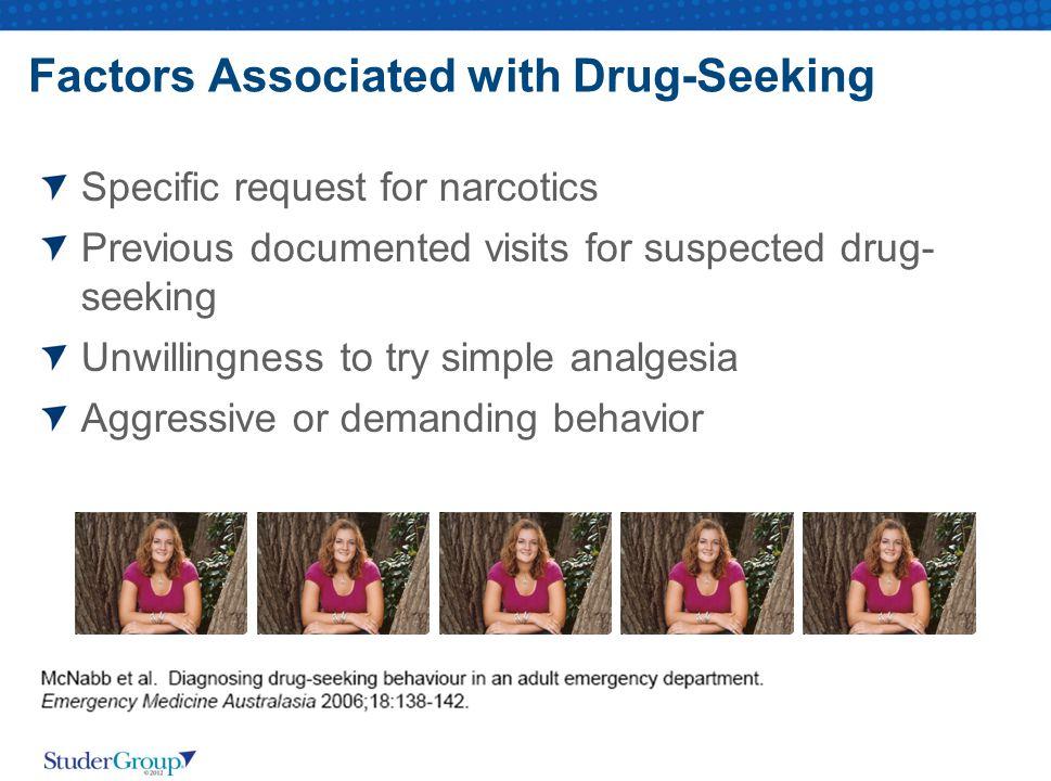 Factors Associated with Drug-Seeking