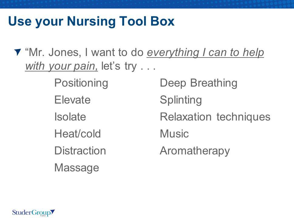 Use your Nursing Tool Box