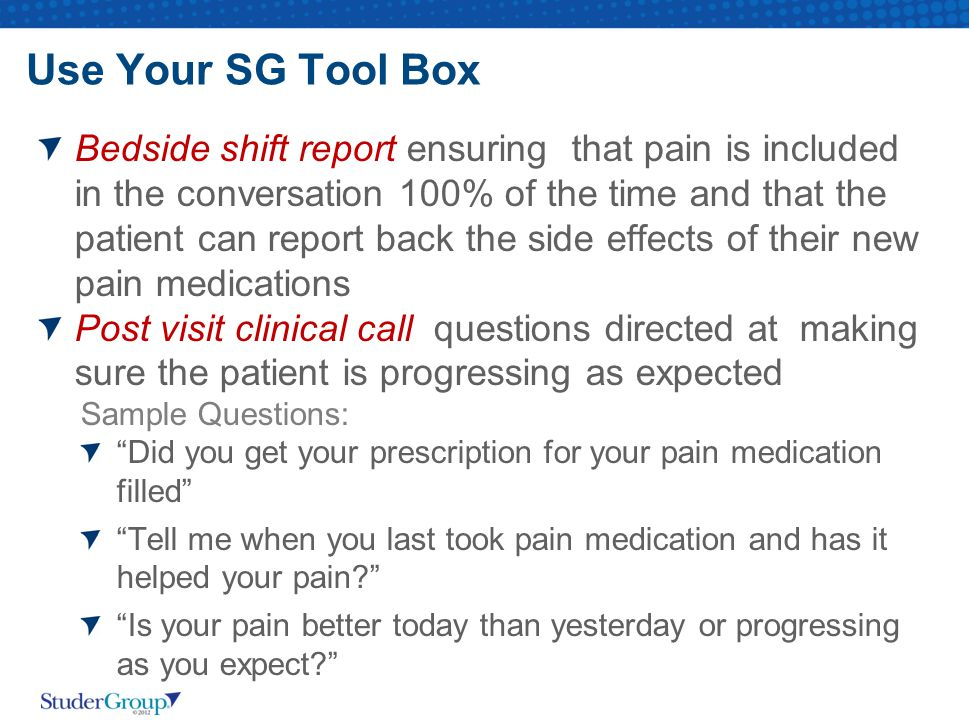 Use Your SG Tool Box
