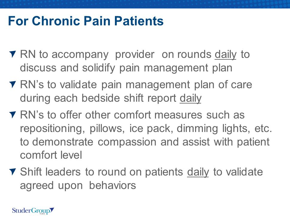 For Chronic Pain Patients
