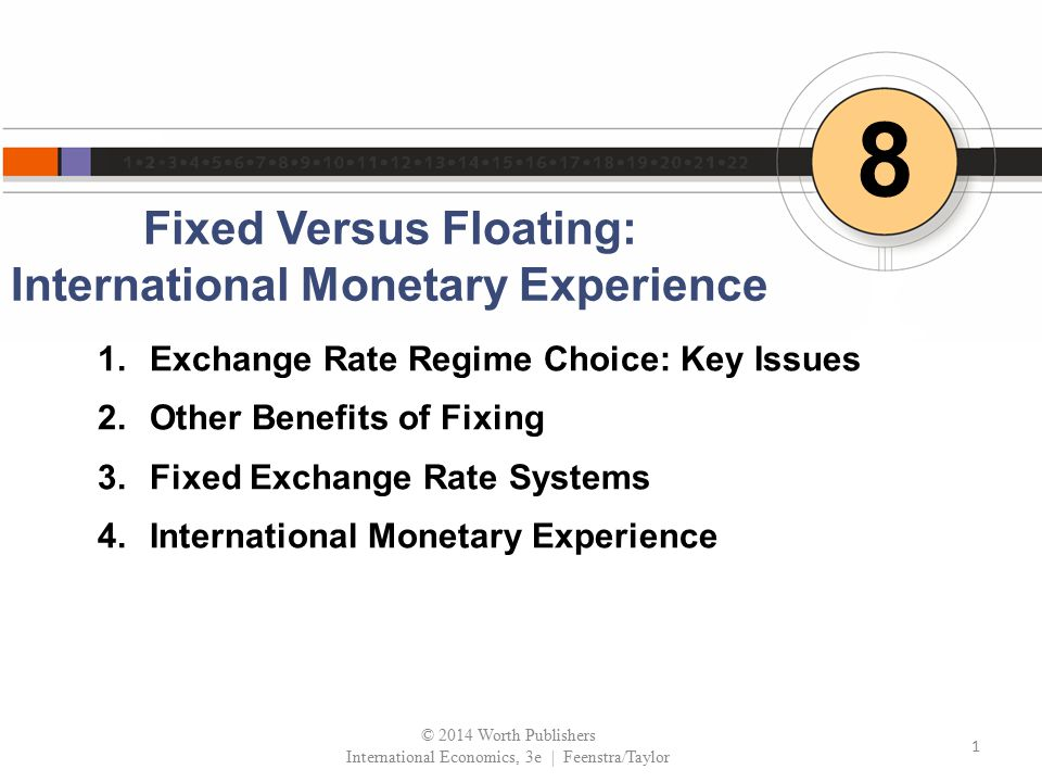 Fixed Versus Floating: International Monetary Experience