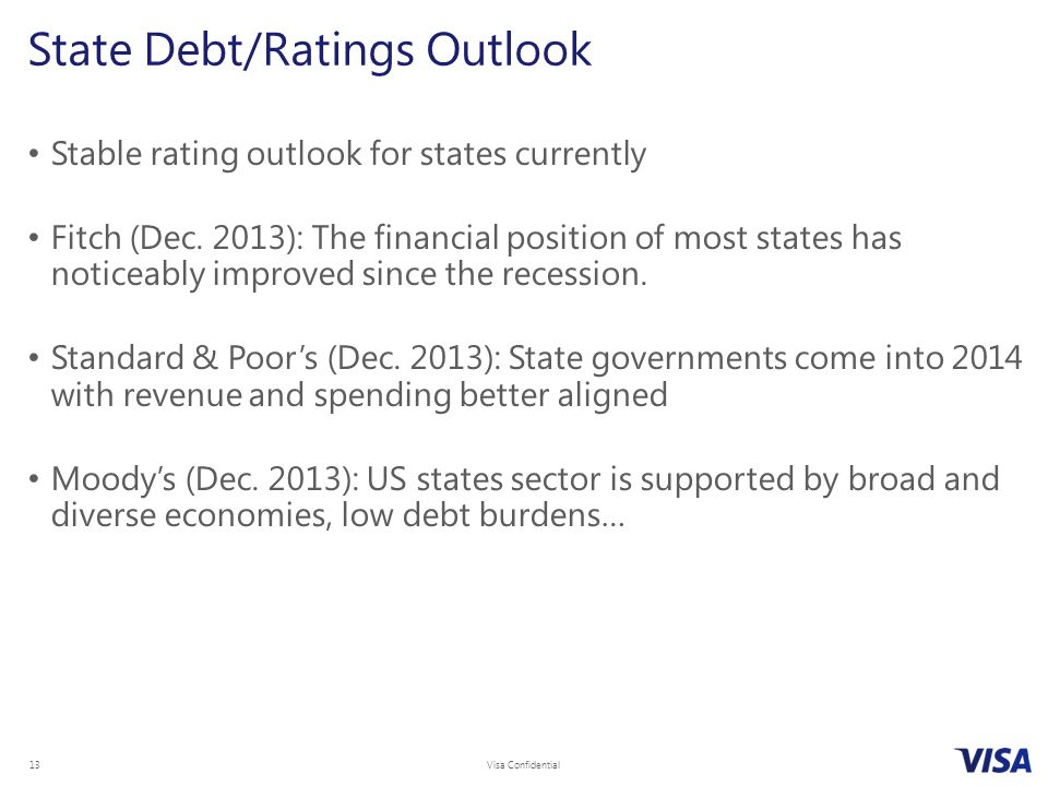 State Debt/Ratings Outlook