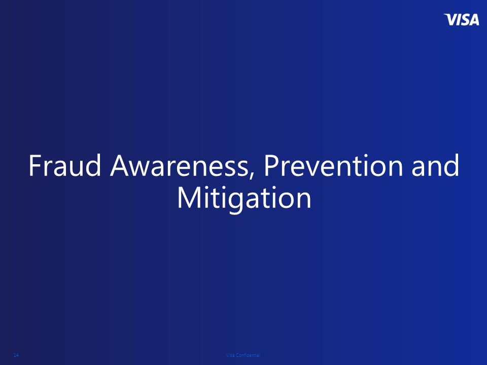 Fraud Awareness, Prevention and Mitigation