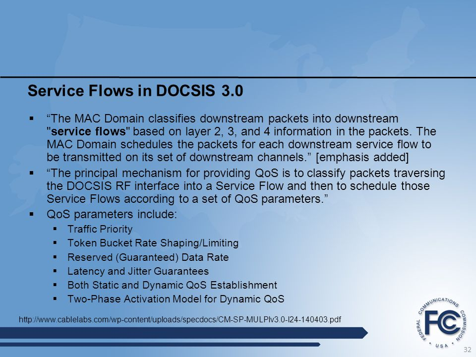 Service Flows in DOCSIS 3.0