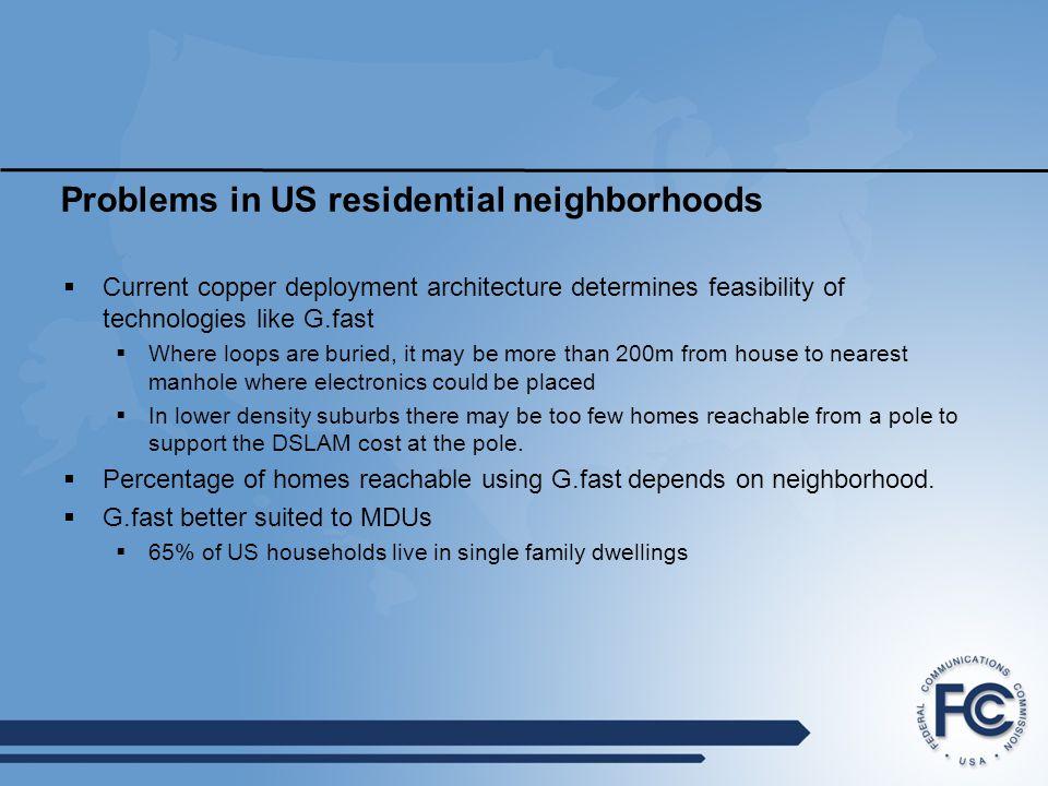 Problems in US residential neighborhoods