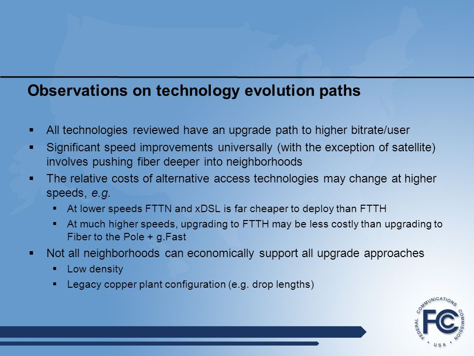 Observations on technology evolution paths