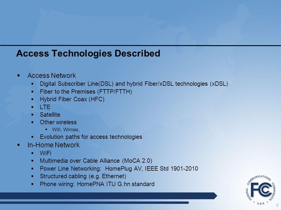 Access Technologies Described