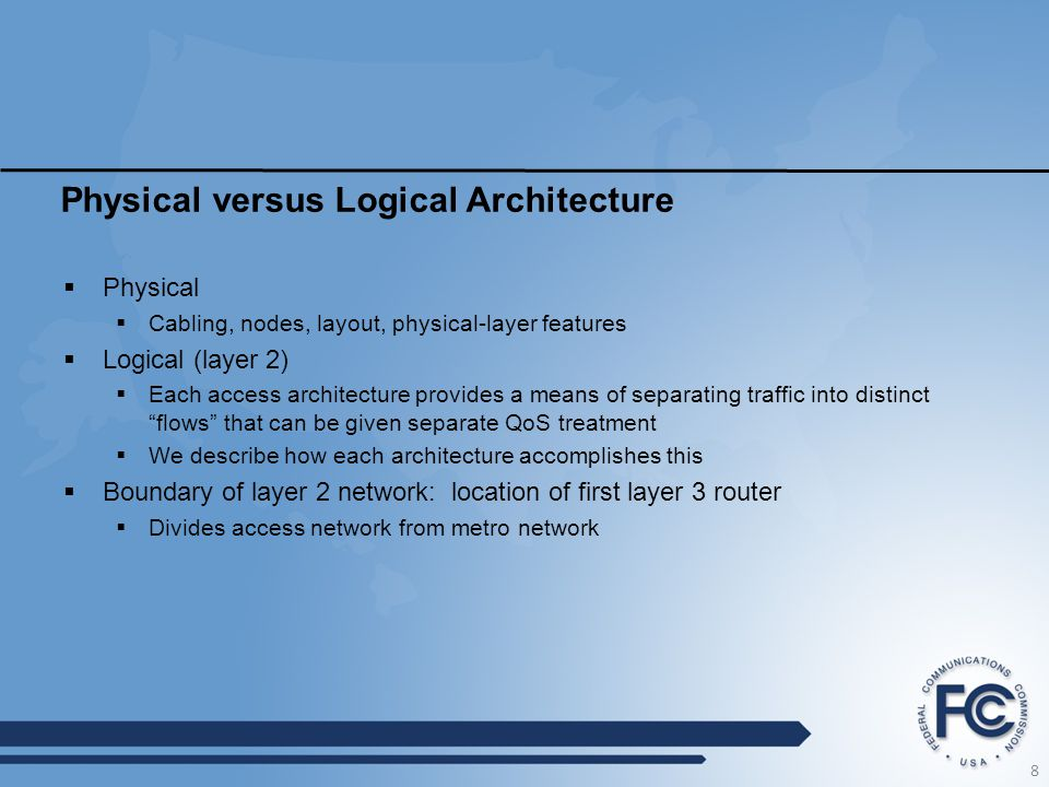 Physical versus Logical Architecture