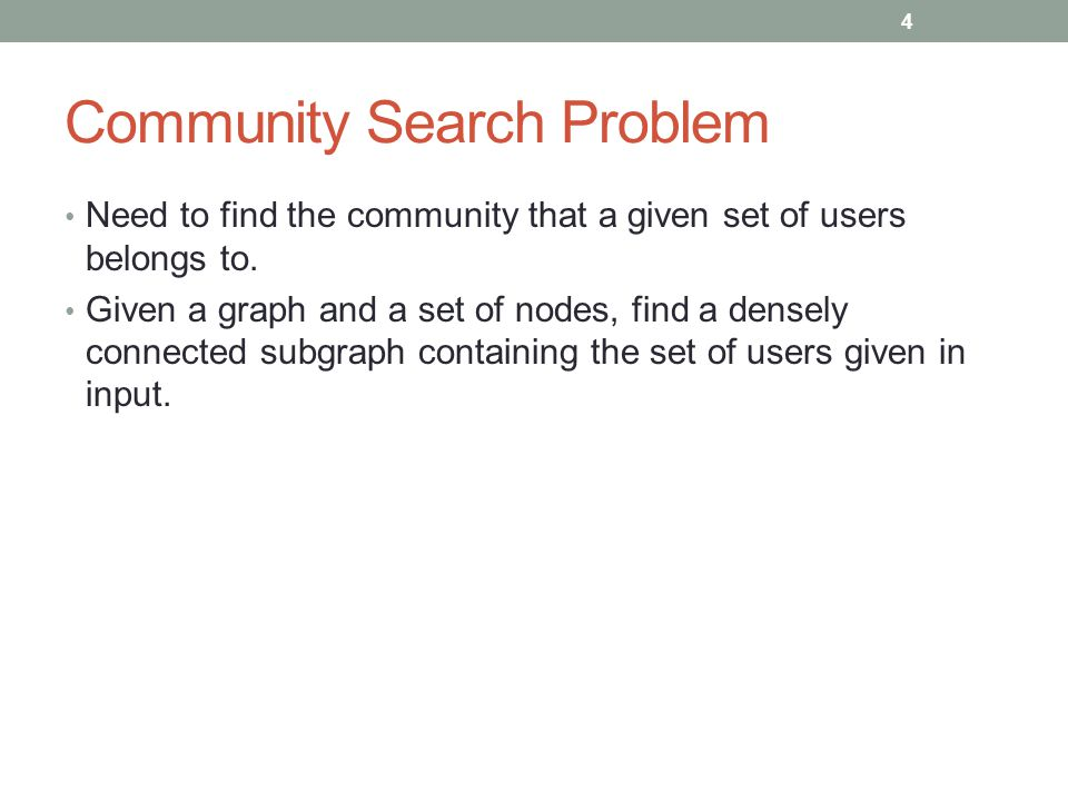 Community Search Problem