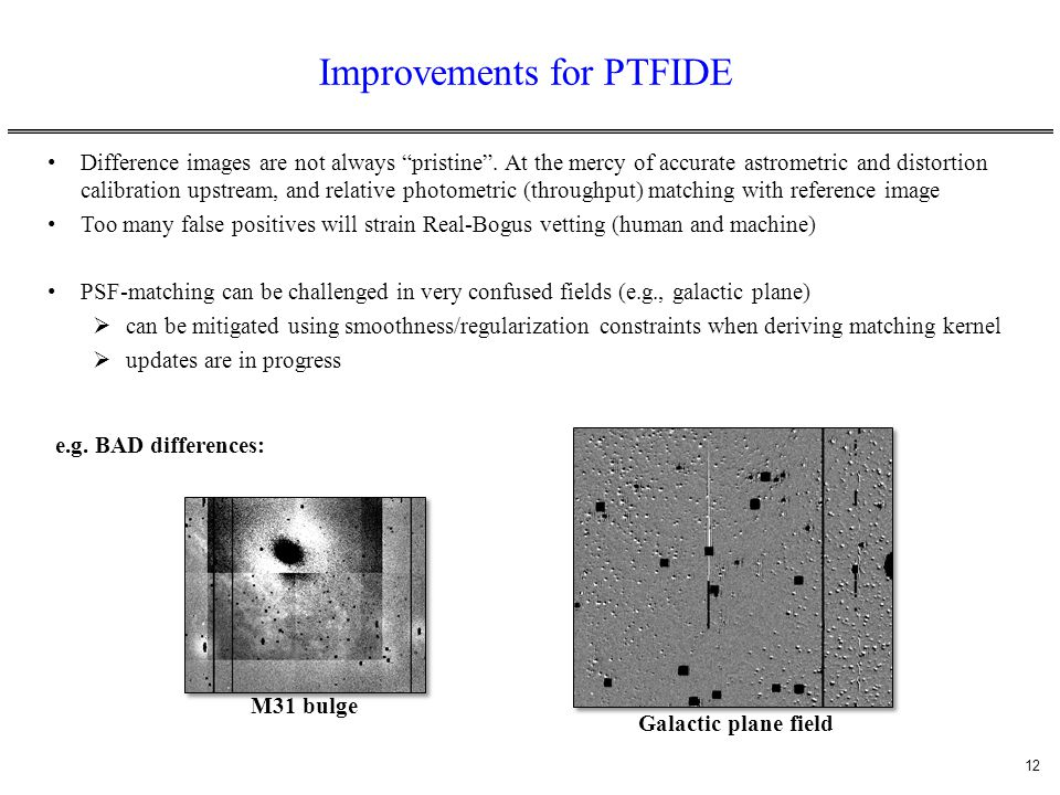 Improvements for PTFIDE