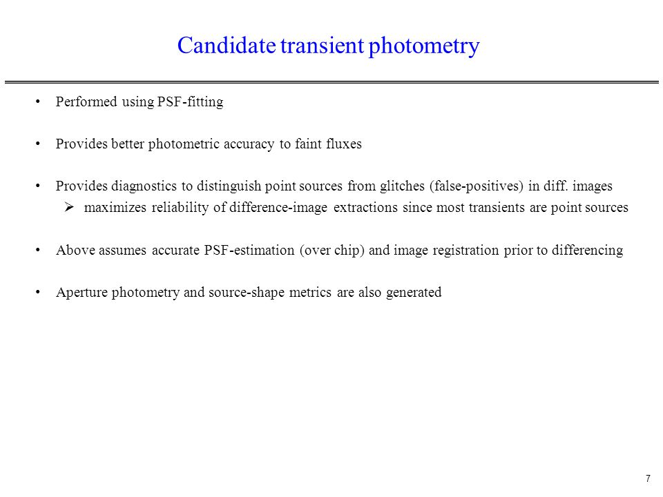 Candidate transient photometry