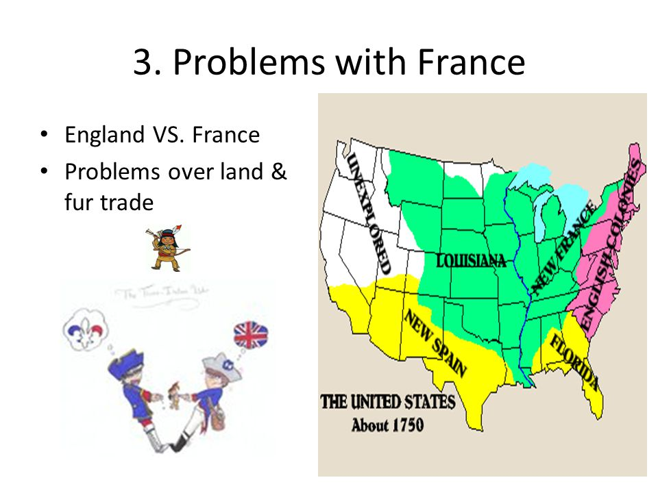3. Problems with France England VS. France