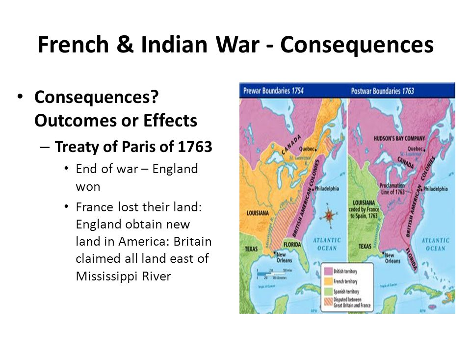 French & Indian War - Consequences