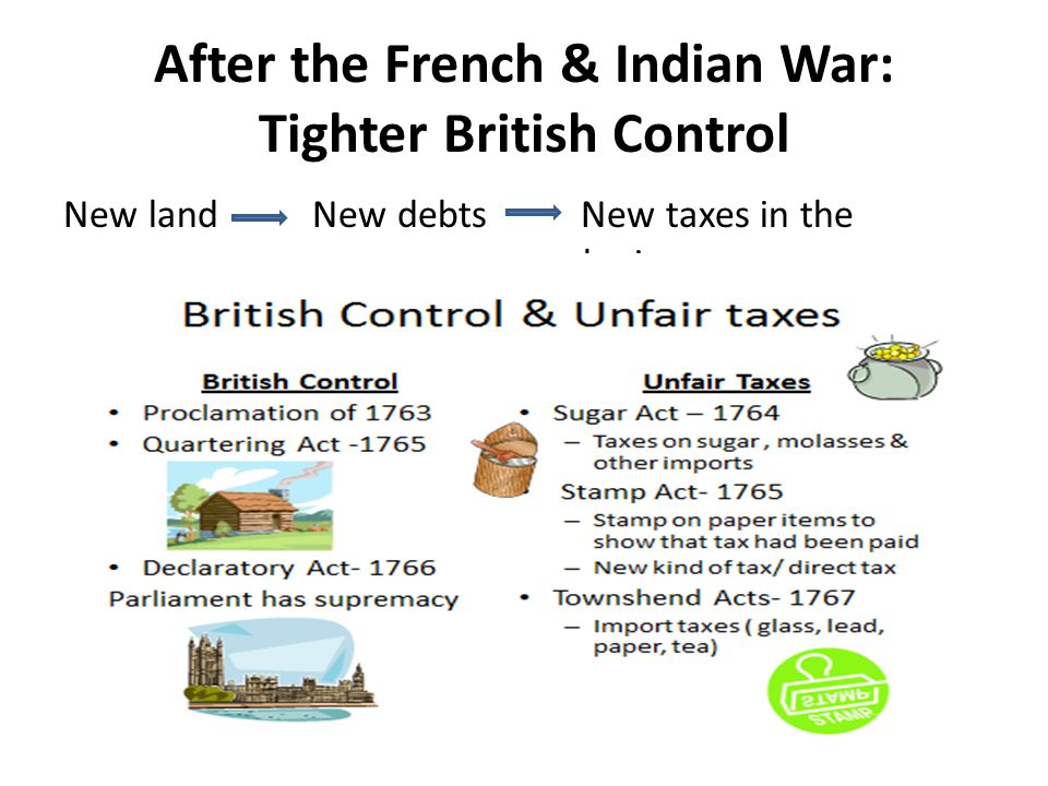 After the French & Indian War: Tighter British Control