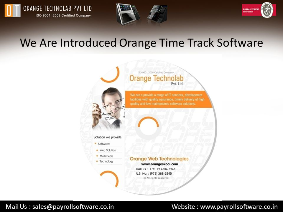 We Are Introduced Orange Time Track Software