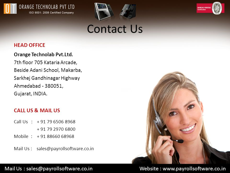 Contact Us HEAD OFFICE CALL US & MAIL US