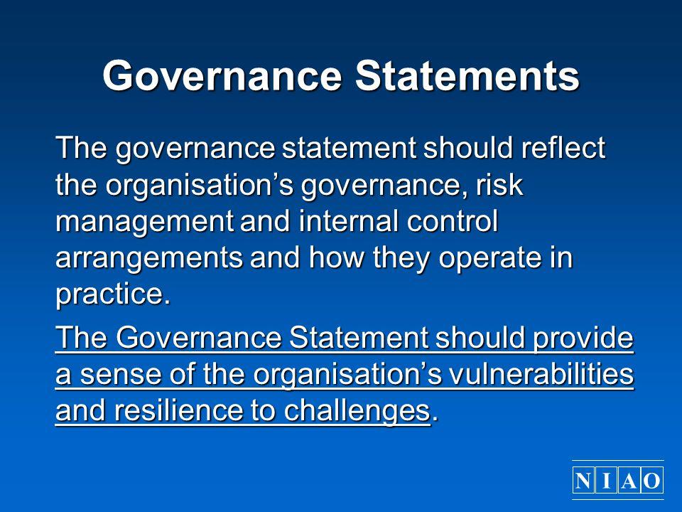 Governance Statements