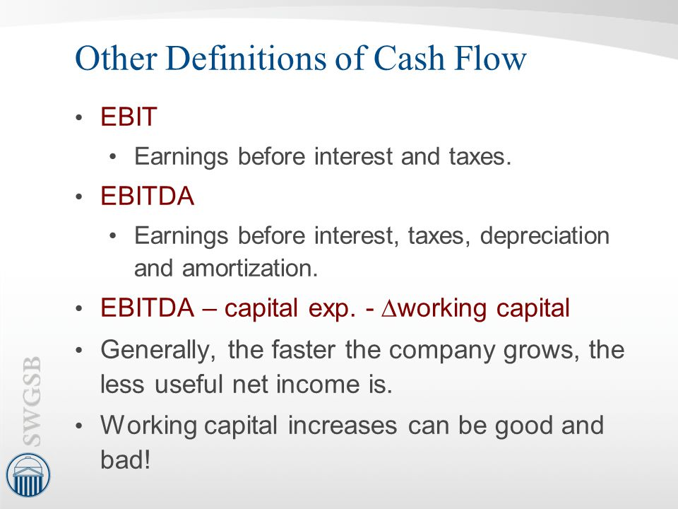 Other Definitions of Cash Flow