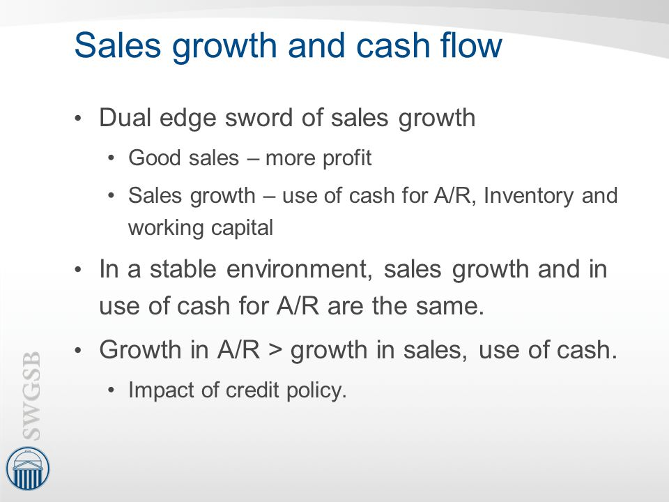Sales growth and cash flow